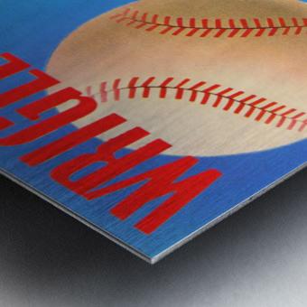 Row One Brand Wrigley Field Art Remixes_Public Domain Sports Art Remixes_Chicago Cubs Poster Metal print