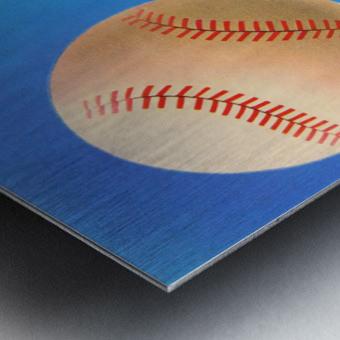 Baseball Pitcher Art Metal print
