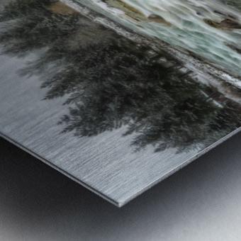 River in Winter Metal print