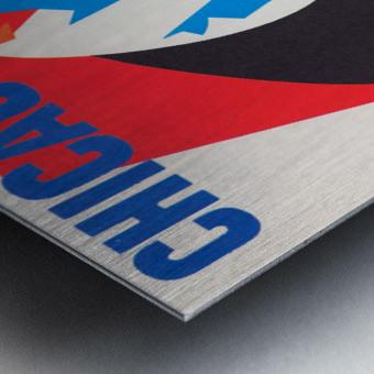 Retro_Remix_Sports_Program_Scorecard_Posters_Row_One_Chicago_Cubs Metal print