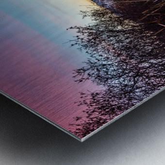 Vermilion Lakes Mist Metal print