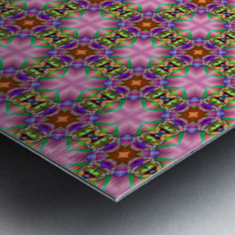 seamlesspsychedelicpattern Metal print