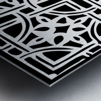Blackandwhitegeometricgeometrypattern Metal print