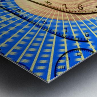 Time Bent Metal print