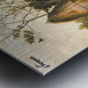 Landscape with Farmhouse Metal print