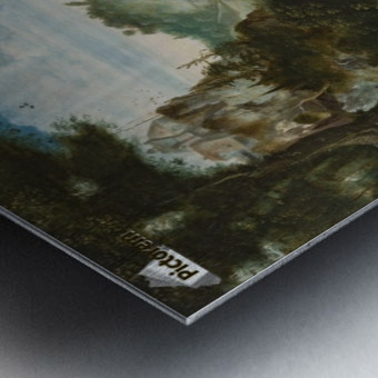 Landschap met Sint Christoffel Metal print
