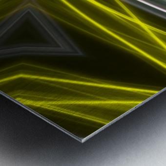 Yellow Neon Lights  Metal print