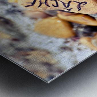 Imperatif present Metal print