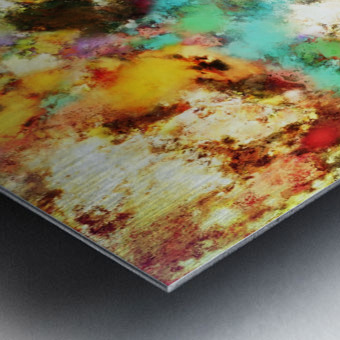 A distorted impact Metal print