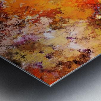 A jumping orange horse Metal print