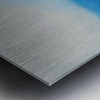 Tranquility Blue II. Metal print