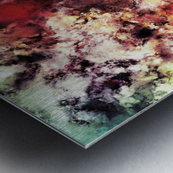 Compression Metal print
