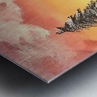 Snow At Sunset Metal print