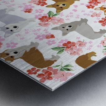 Corgis corgi pattern Metal print