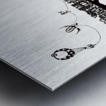 Treno Espresso Castelinni Metal print