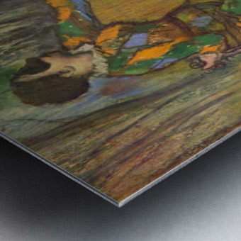 Harlequin and Colombine by Degas Metal print