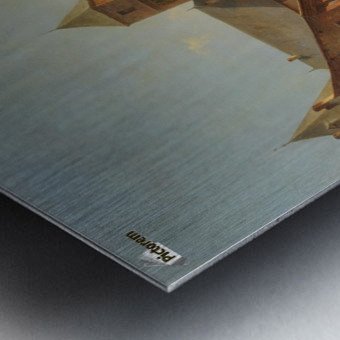 Belgian Continental Market Metal print