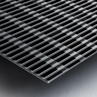 Black and White Skyscraper Windows Metal print