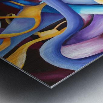 Interlacing Vivid Contemporary Abstract Metal print