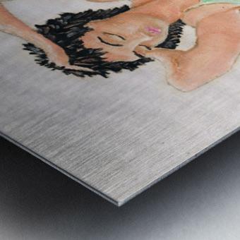 NICOLE  - Crayons Metal print