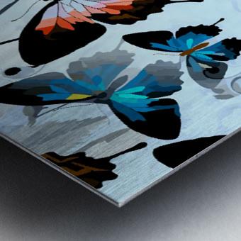 Seamless Butterflies Pattern  Metal print