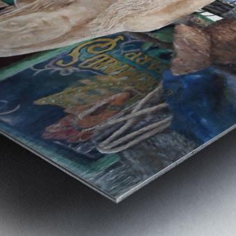 MermaidPondering Metal print