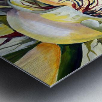 Artdeco Structural Flower Petals Metal print