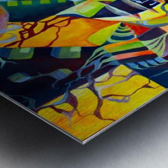 Pop Currealism Contemporary Vivid Utopia Metal print