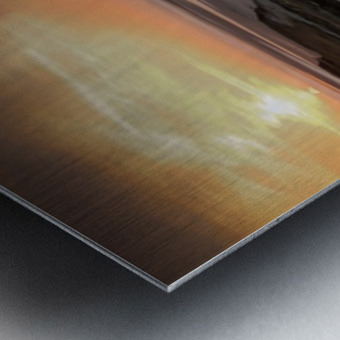 Penclawdd marsh sunset Metal print