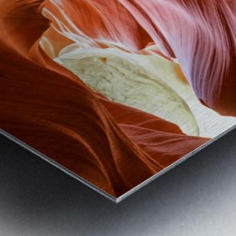 Interior of Antiloppe canyon page Arizona USA Metal print
