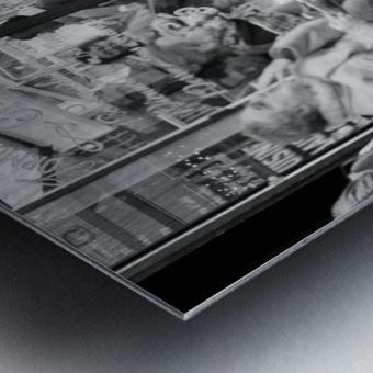 Cafe en face de Drouot Metal print