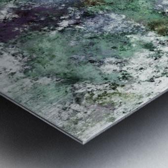 Walking through water Metal print