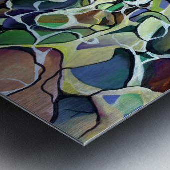 Chaos Theory in Interlacing Style  Metal print
