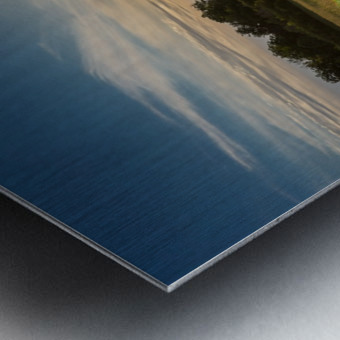 Creekside Sunset 1 Metal print