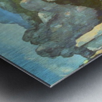 L Estaque by Cezanne Metal print