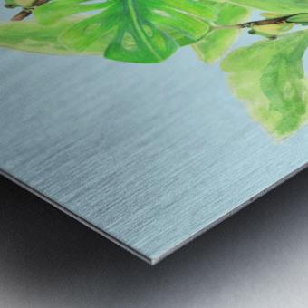 Frog Garden  Metal print
