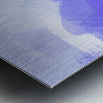 splash painting texture abstract background in blue and purple Metal print