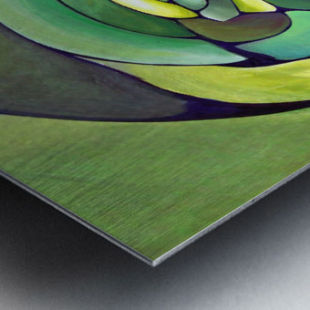 Artdeco Twisted Pattern  Metal print