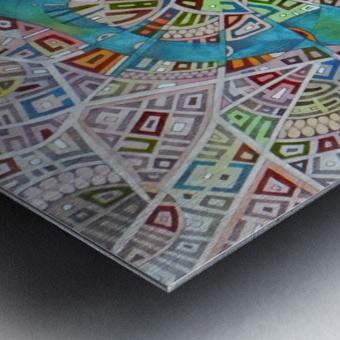 imaginary map of Boston Metal print
