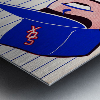 1955 chicago white sox mlb baseball score book poster Metal print