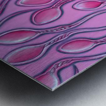 Sperms pink Metal print