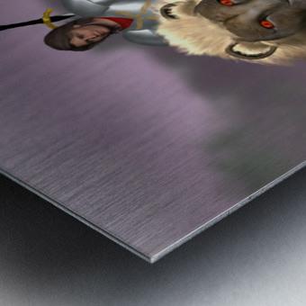 Halfling Warrior Metal print