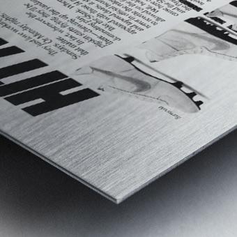 Hit Men Nike Shoes Ad Poster Reproduction 1982 Metal print