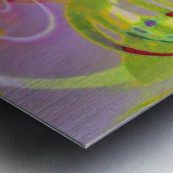 Infinity Painting Green Metal print