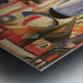 Large bright showcase by Macke Metal print