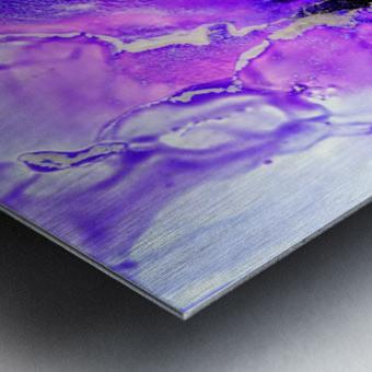 Purple Mirage II Metal print