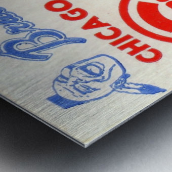 1974_Major League Baseball_Chicago Cubs vs. Atlanta Braves Ticket Stub Art Metal print