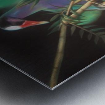 purple gallinule Metal print