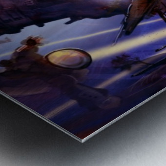 Lights On - Alien Megastructure Rama V Metal print