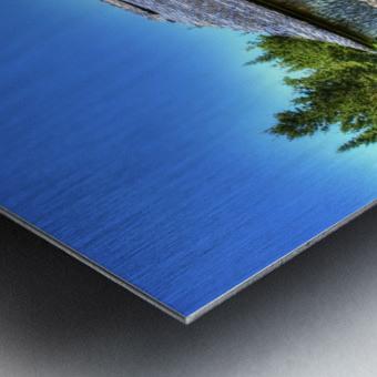 Toit bleu Metal print